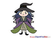 Costume Witch Girl ownload Clipart Halloween Cliparts