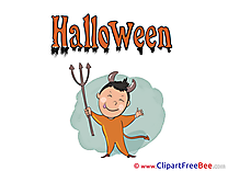 Devil Boy printable Illustrations Halloween