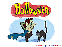 Dracula with Cat Pics Halloween free Cliparts