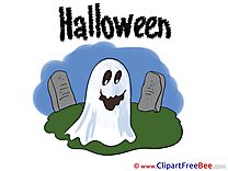 Ghost Chemetery printable Halloween Images