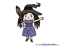Girl Witch Halloween Illustrations for free