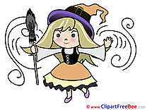 Kid Girl Witch Pics Halloween free Image