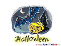 Night Bat Pumpkin Halloween Clip Art for free