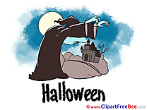 Night Castle Vampire printable Illustrations Halloween