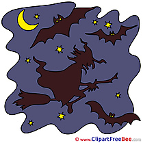Old Witch Night Bats free Cliparts Halloween