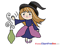 Potion Witch Halloween download Illustration