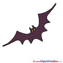 Silhouette Bat Pics Halloween free Cliparts