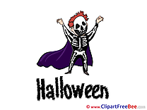 Skeleton free Cliparts Halloween
