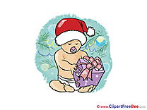 Baby Present free Cliparts New Year
