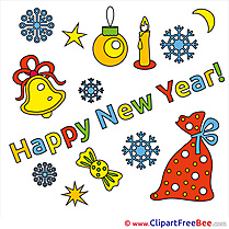 Bag Bells Clipart New Year Illustrations