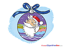 Ball Santa Claus Pics New Year Illustration