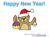 Bear printable Illustrations New Year