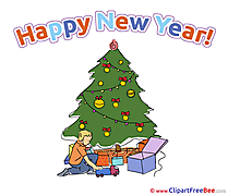 Beautiful Card download New Year Illustrations
