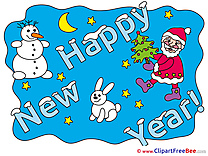 Bunny Snowman New Year free Images download