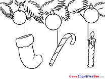 Candle Sock download Clipart New Year Cliparts