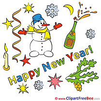 Champagne Snowman free Illustration New Year