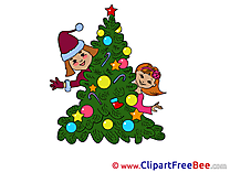 Children Tree Clip Art download New Year