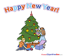Christmas Eve New Year Illustrations for free
