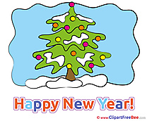 Cliparts Tree New Year for free