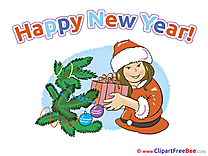Gilr Presents Clipart New Year Illustrations