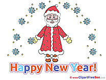 Holiday Santa Claus Clipart New Year Illustrations