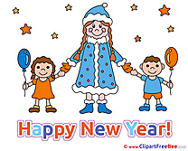 Maiden Children printable Illustrations New Year