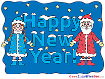 Maiden Santa Claus download New Year Illustrations