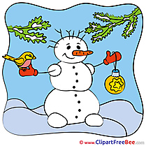 New Year Snowman download Illustration