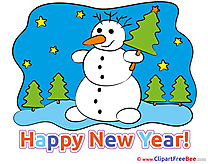Night Snowman free Cliparts New Year