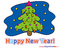 Night Tree Pics New Year free Cliparts