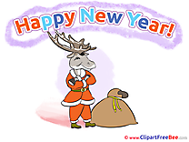 Present Deer Clip Art download New Year