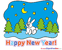 Rabbit Forest free Illustration New Year