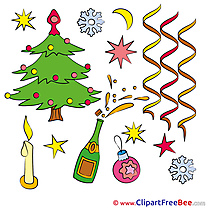 Ribbons Tree New Year Illustrations for free