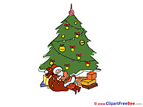 Sleeping Santa Claus Clip Art download New Year