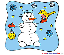 Snowflakes Snowman free Illustration New Year