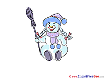 Snowwoman New Year Illustrations for free