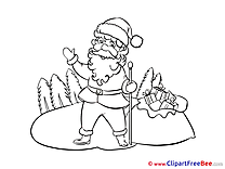 Staff Santa Claus Cliparts New Year for free