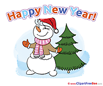 Virtual Card Clipart New Year Illustrations