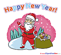 Winter Santa Claus Pics New Year free Cliparts