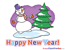 Winter Snowman Pics New Year free Cliparts