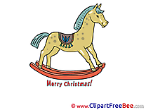 Wooden Horse Pics New Year free Cliparts
