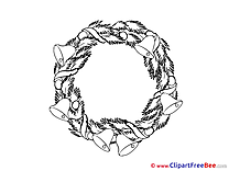 Wreath Clip Art download New Year