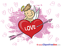 Arrow Cupid free Cliparts Hearts