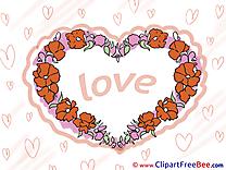 Spring Flowers Love Hearts download Illustration