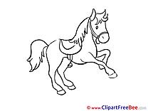 Clip Art download Horse