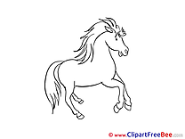 Clipart Illustrations Horse