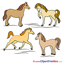 Four Horses printable  Images