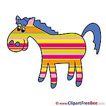 Multicolor Horse download Illustration