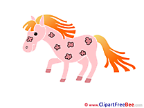 Pink Pony Clipart Horse Illustrations