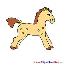 Printable Animal Illustrations Horse